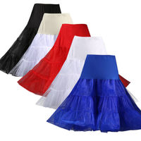 50s Swing Vintage Petticoat 27 Retro Underskirt Rockabilly Tutu Fancy Skirt Performing Costume Women Girls Summer