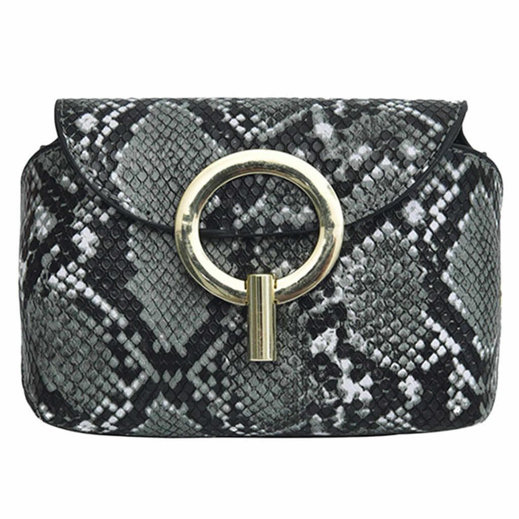 Riñonera con estampado de serpiente a la moda para mujer bolsa de cintura con cierre Rosa bolsa de mensajero con cinturón para mujer nerka 25