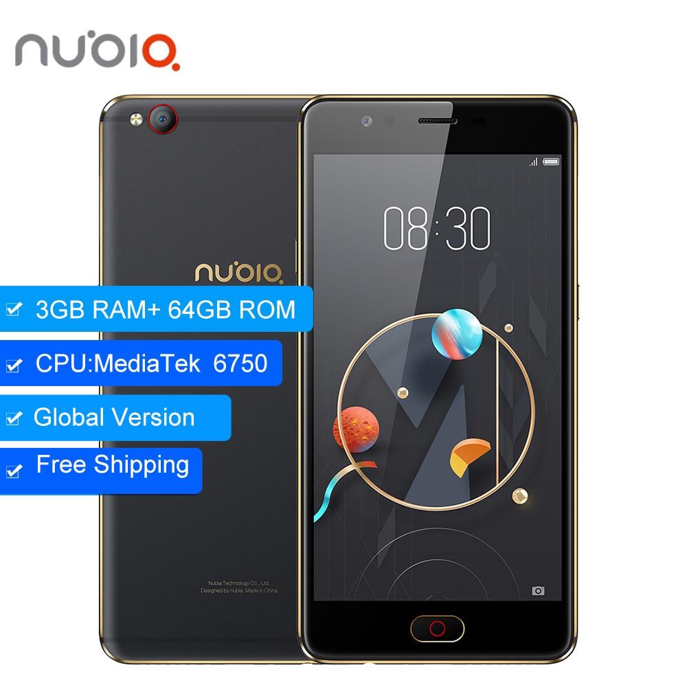 D'origine ZTE Nubia M2 LITE 3 gb 64 gb 4g LTE MT6750 Octa base Android M 5.5 16.0MP 3000 mah Batterie D'empreintes Digitales Smartphone