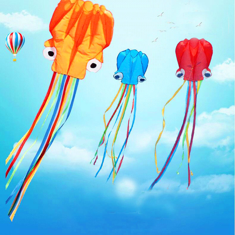 free shipping high quality large octopus kite with handle line children kites wholesale eagle kite surfing hcxkite factory