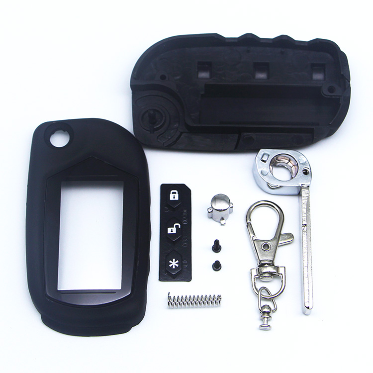 Free Shipping A91 Key Case Keychain for Starline A91 A61 B9 B6 uncut blade fob case cover A91 folding car flip Remote Control-in Key Case for Car from Automobiles & Motorcycles