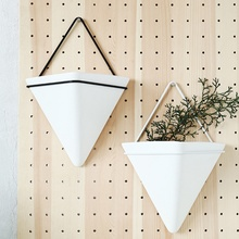 2019 Acrylic Flower Pot Iron Plant Holders Set Indoor Hanging Planter Geometric Vase Wall Decor Container Succulents Plant Pots