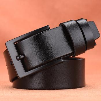 [LFMB] mężczyźni skórzany pasek mężczyźni pasek mężczyzna gunine skórzany pasek krowa prawdziwej skóry luksusowe broszka w stylu vintage klamra mężczyźni pas tanie i dobre opinie Dla dorosłych Cowskin Metal 3 8cm Moda Stałe 6 8cm nz372 Pasy 5 5cm leather men belt leather belt men ceinture homme genuine leather belt
