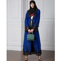 YSMARKET Robe Autumn Women Casual Loose Maxi Dresses Islamic Moroccan Muslim Clothing Bohemian Lace Dress Long