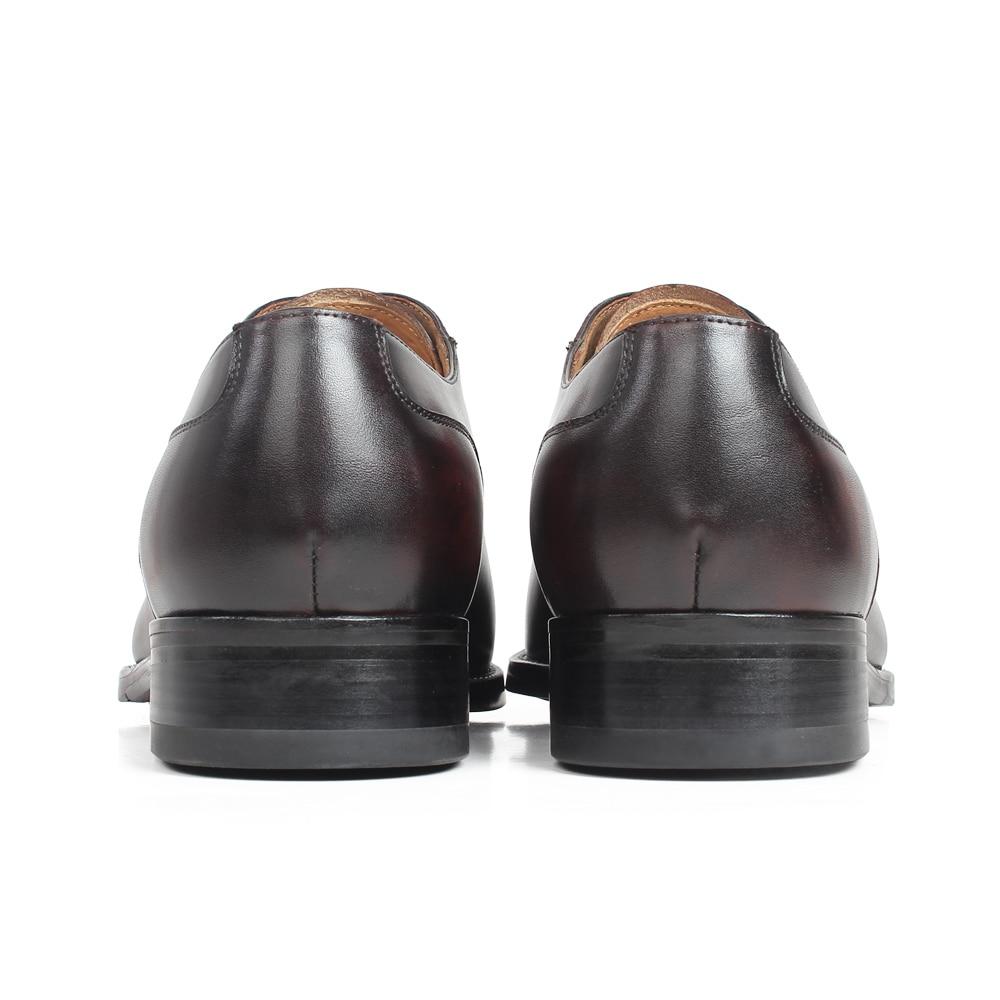 Escritório Vaca Calçado Pele Primavera Masculino Nova Marrom Homens Pátina Sapatos Brown Mans De Para Genuína Couro Vestido Vikeduo 2019 Casamento Oxford 1vHa1q