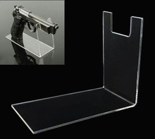 Hot sale Armory store display Props Clear acrylic Outdoor pistols holder gun model showing stand rack 3pcs/lots