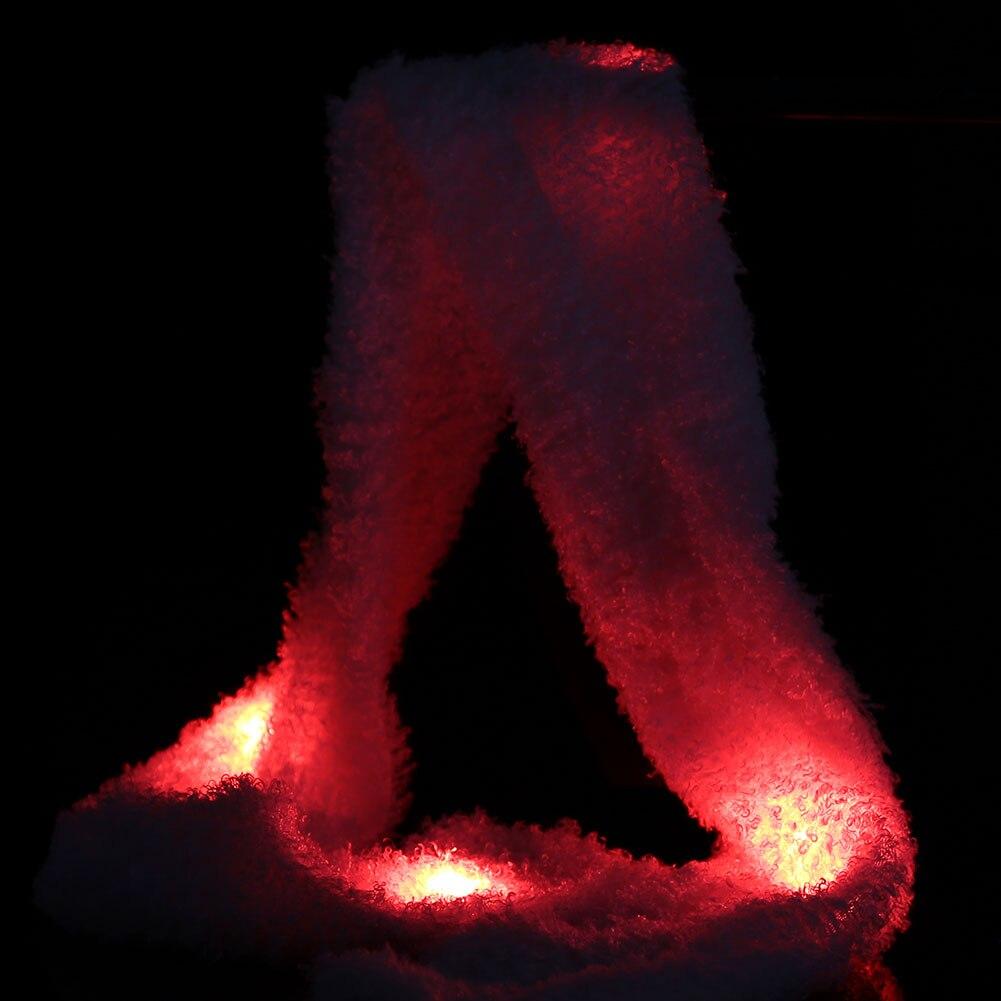 Flare шарф флэш-шарф светодиодный шерсть Производительность Хэллоуин Косплэй холодный свет реквизит флэш-память для рождественской вечеринки шоу