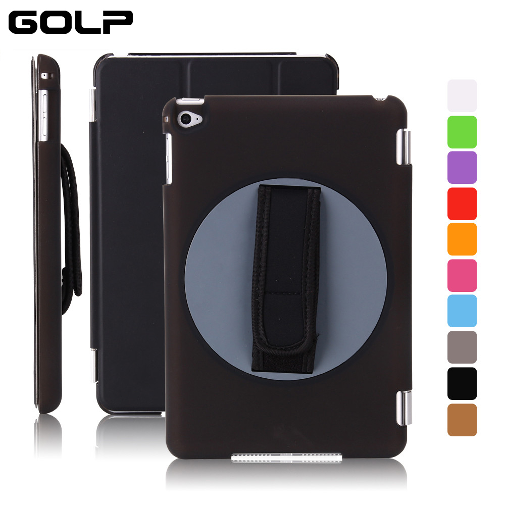 GOLP Luxury PU Leather Case for iPad Mini 4 Flip Smart Cover for iPad Mini 4 Mini4 A1538 7.9 Funda Protective Cases protective pu pc flip open case cover for ipad mini red