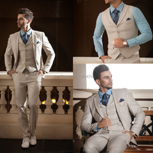 2016 Custom Made High Quality 4 Pieces Men's Suits Western Wedding Tuxedos Cheap(Jacket+Pants+Vest+Tie)Free Shipping