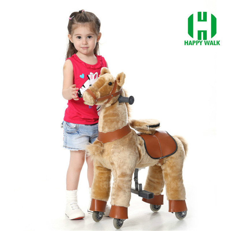Children Gift Time-limited White Black Gray Hot Hi Ce Zebra Walking Horse Kiddie Mechanical Scooter Horse Ride On Foal Pony Toys hi ce new arrival mechanical horse kawaii animal ride on horse lion rode on horse kids toy for children adult new year gifts