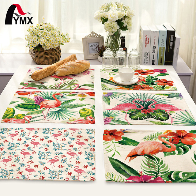 42X32CM Table Napkins Flamingo Printing Dinner Table Napkins Tea Coffee Towel Restaurant Plates Decor Reusable Placemat  sc 1 st  AliExpress.com : coffee plates decor - pezcame.com