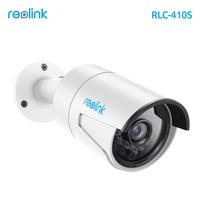Reolink IP Camera 4MP Night Vision 16GB SD Card Motion Detection Recording PoE Bullet Security Infrared Outdoor Cam RLC 410S