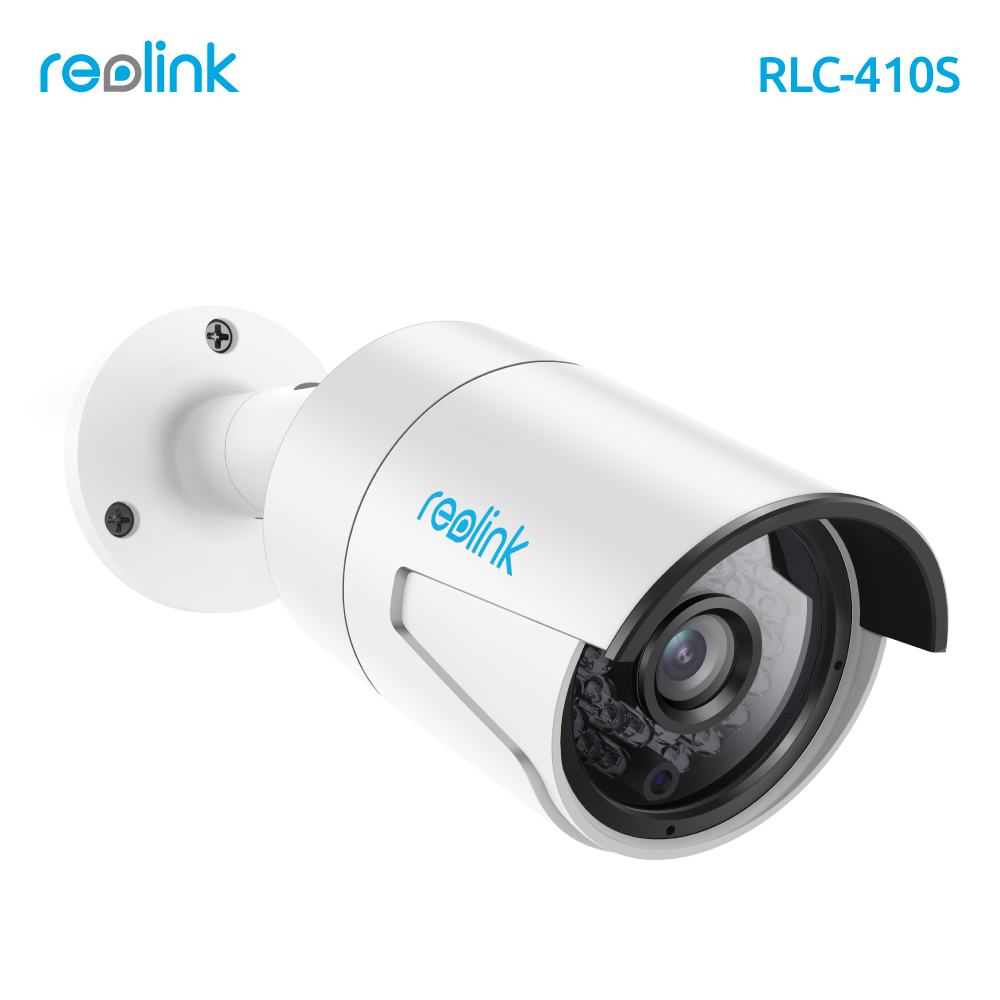 Reolink IP Camera 4MP Night Vision 16GB SD Card Motion Detection Recording PoE Bullet Security Infrared Outdoor Cam RLC-410S