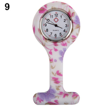 цены Gorgeous!!! New Fashion Patterned Silicone Nurses Brooch Tunic Fob Pocket Watch Stainless Dial  N76Y