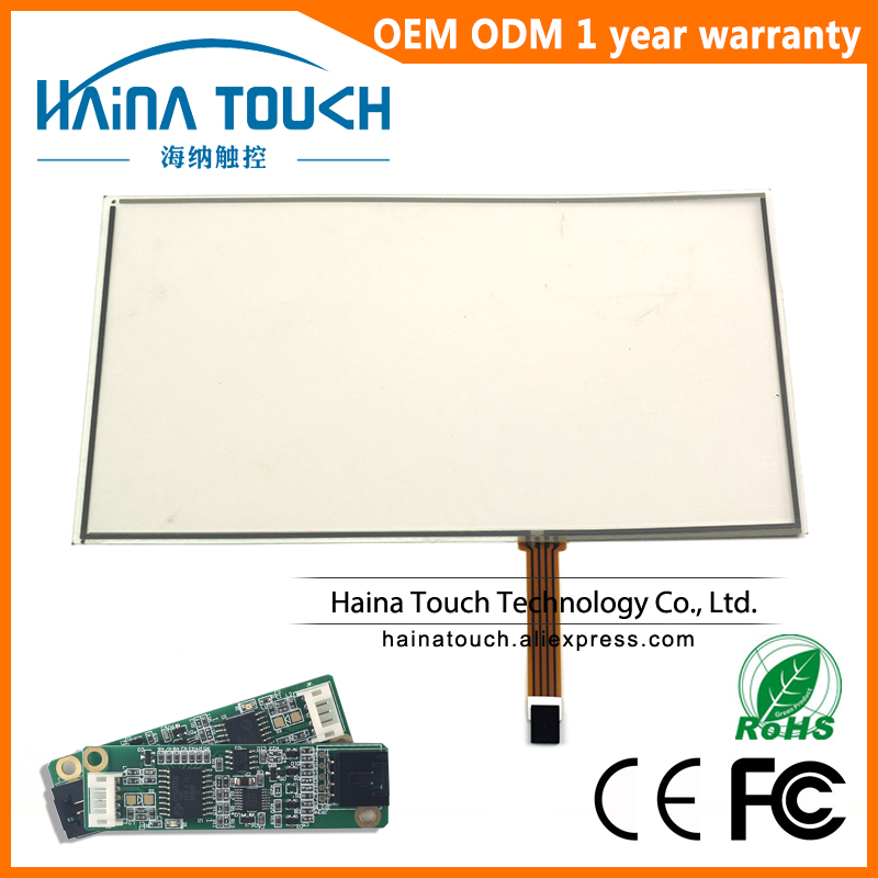 Win10 Compatible 16:9 12.1 inch 4 wire resistive USB touch screen panel, touch screen glass 12.1 with USB controller  цены