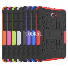 Dazzle Heavy Duty Impact Hybrid Armor Kickstand Hard case For Samsung GALAXY Tab A A6 T580 T580 T585 10.1 '' with Stand Function