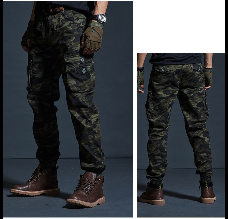 High Quality Khaki Casual Pants Men Military Tactical Joggers Camouflage Cargo Pants Multi-Pocket Fashions Black Army Trousers 62