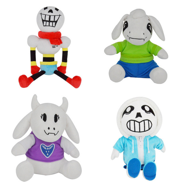 Hot Undertale Plush Toys Cartoon Figures Sans PapyrusToriel Asriel Flower Miss Spider Peluche Dolls Brinquedos Kids Xmas Gift