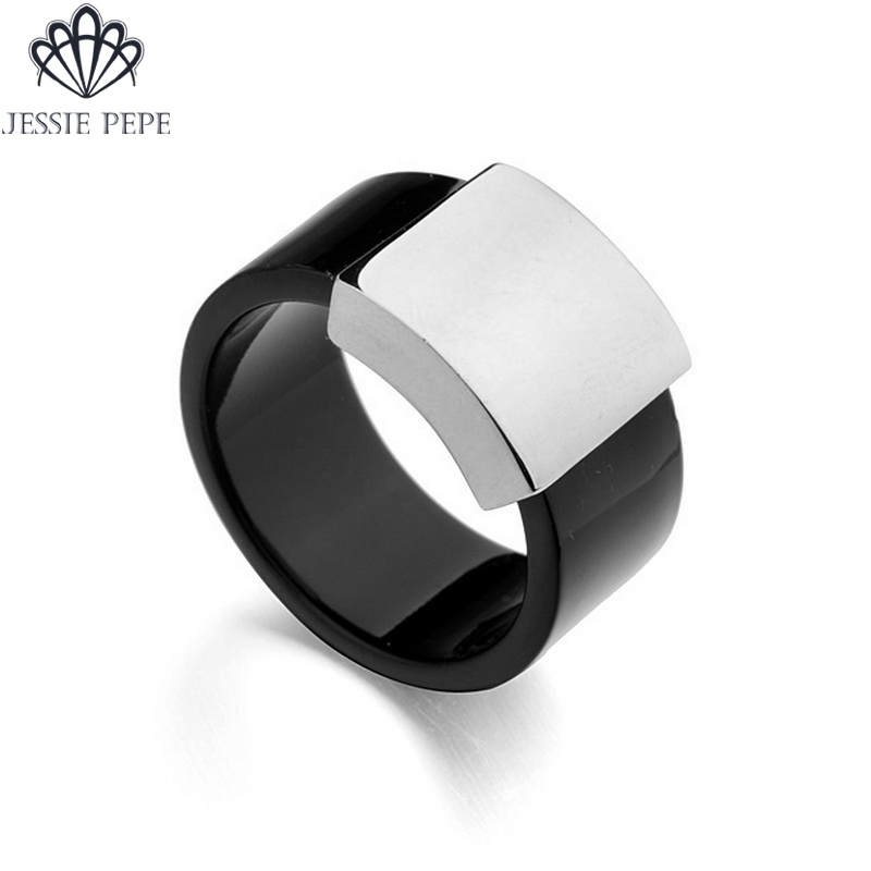 Jessie Pepe Italina New Arrival R.A Wide Ring Anel Rose Gold Color Party Jewelry WholesaleTop Quality#JP13611White