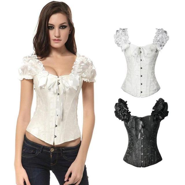 917f6cbe405 Fashion women elegant corset tops waist trainer gothic clothing lace jpg  640x640 Elegant corset