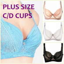 Summer ultra thin bra large C/D cup bra adjustable straps