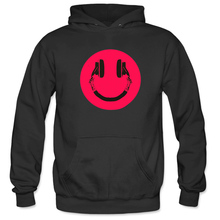 Mens Merry Christmas Happy Music Happy Friday Exquisite High Quality Printing Fun Novelty Trend Hoodies Sport Sweatshirt