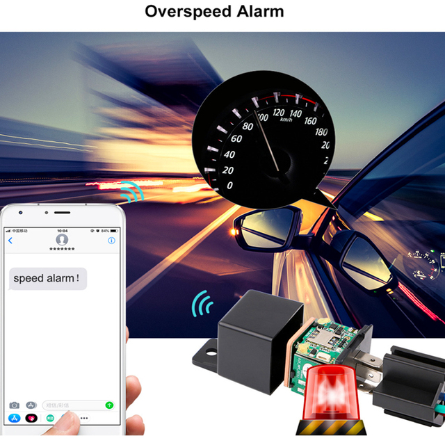 Car Relays GPS Tracker Car GPS Locator GSM Remote Control Anti-theft Monitoring Cut off oil power Realtime Track Shock Alarm