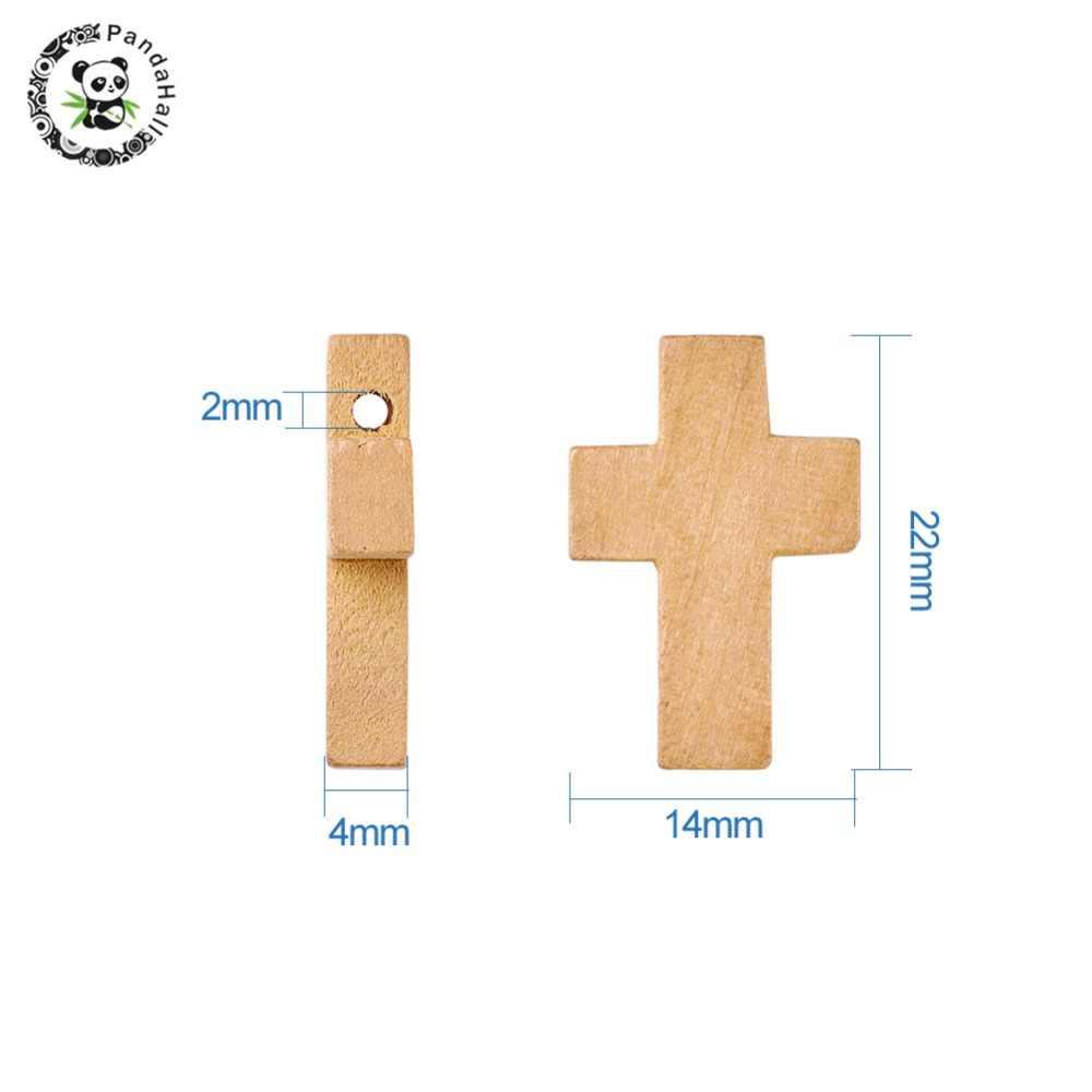 50 шт. 22x14x4 мм деревянные крестообразные Кулоны, подвески, аксессуары для украшения верблюда, Изготовление Бижутерии, деревянные ожерелья