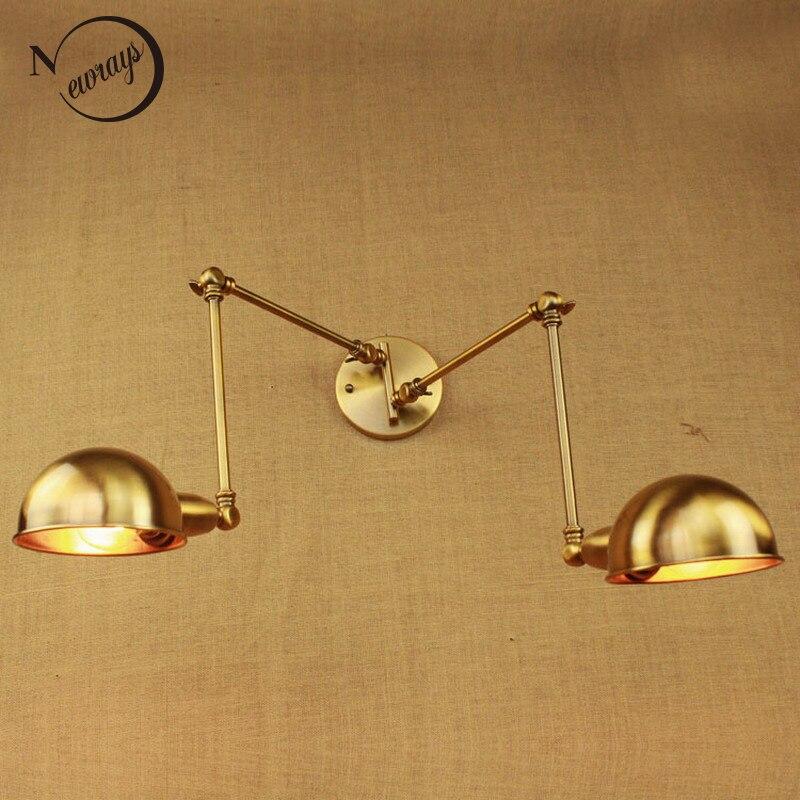 настенные светильники латуни