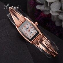Lvpai бренд 2018 Новое поступление модные Повседневное браслет Для женщин часы сплава розового золота наручные часы площадь платье кварцевые часы LP217