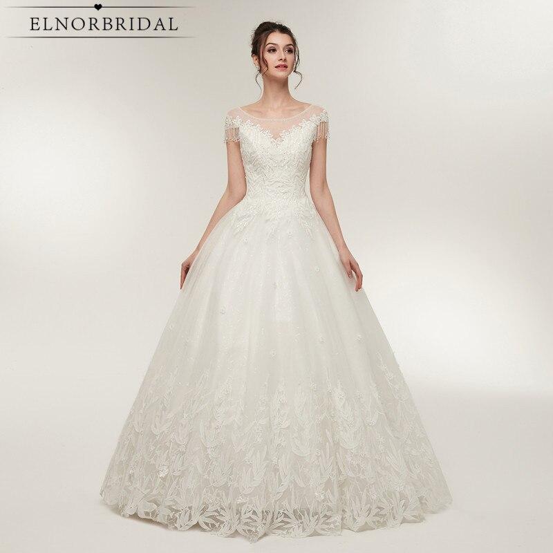 リアルフォト夜会服のウェディングドレス 2020 シアーコルセットバックレースブライダルドレスアリババ中国 Vestidos デ noiva Gelinlik