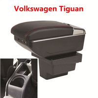 For Volkswagen Tiguan Armrests box central Store content box with cup holder interior car styling accessory part 2009 2017
