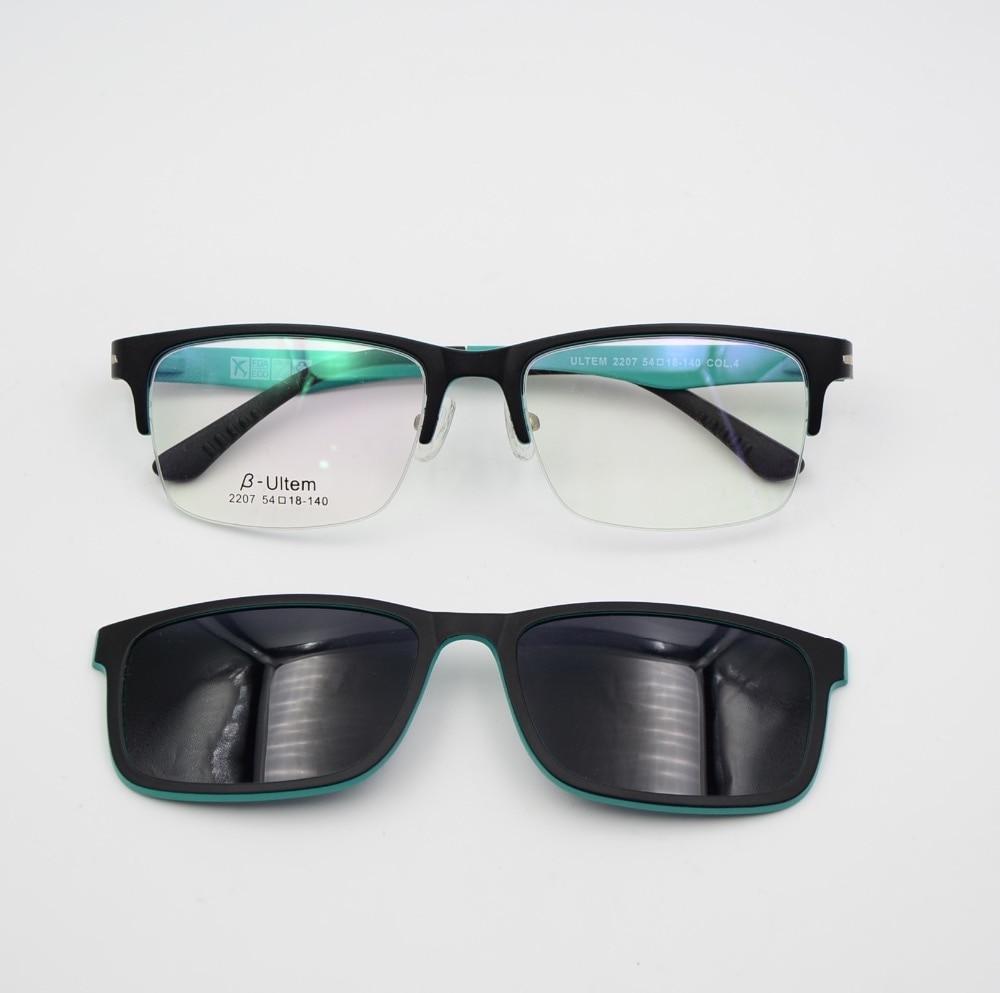 Eyeglasses Frame With Magnetic Sunglasses : PK Half Frame Sunglasses Clip On Sunglasses Optical ...