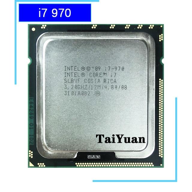 Processeur dunité centrale Intel Core i7 970 i7 970 3.2 130 GHz à Six cœurs 1366 W 12 M LGA