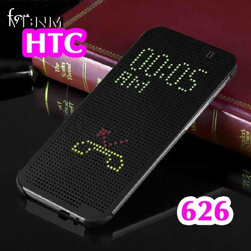 Cas Pour HTC 626G Mince Dot Pointillé Smart Auto Sommeil voir Téléphone Silicone D'origine Flip Couverture Pour HTC Desire 626G 626g