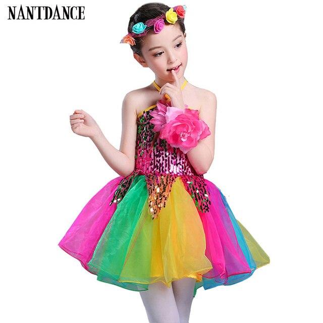 ff99f3bad Girls Ballet Dress For Children Girl Dance Clothing Kids Sequins ...