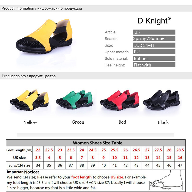 Summer Sandals Women 2018 Lady Yellow Red Shoes Woman Platform Flats Shoes Causal Rhinestone Sandals Roma Female Gladiator Shoes (21)