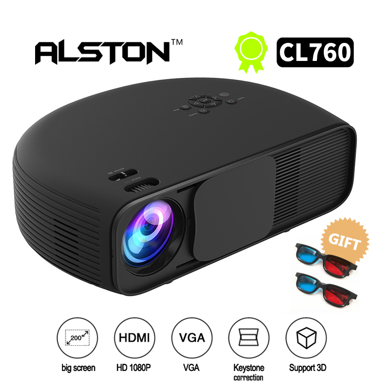 ALSTON CL760 HD LCD LED Projector 3200 Lumen 1080P Video Games TV Home Theater Projecyor Movie Beamer(China)