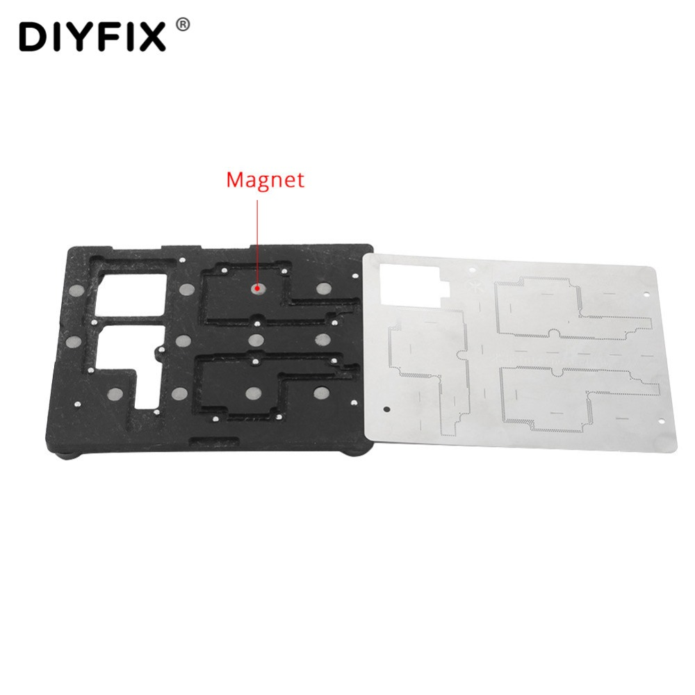 DIYFIX Logic Board Repair Tool for iPhone X Planting Tin Fixture Motherboard IC Chip Ball Soldering Net Stainless Steel Plate лазерный нивелир ada rotary 500 h servo a00338
