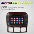 "7 ""pulgadas Android 4.4.4 Quad Core GPS Del DVD Del Coche de Radio Unidad Principal Para Mercedes Benz S W220 S280 S320/S350/S400/S430/S500 (98 ~ 05) #4608"