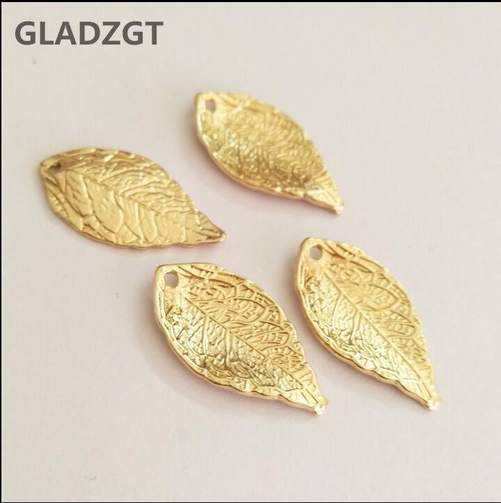 Pandent Pendants Charms Leaves Diy-Decoration Metal For 20pcs/Lot 25--13--1mm