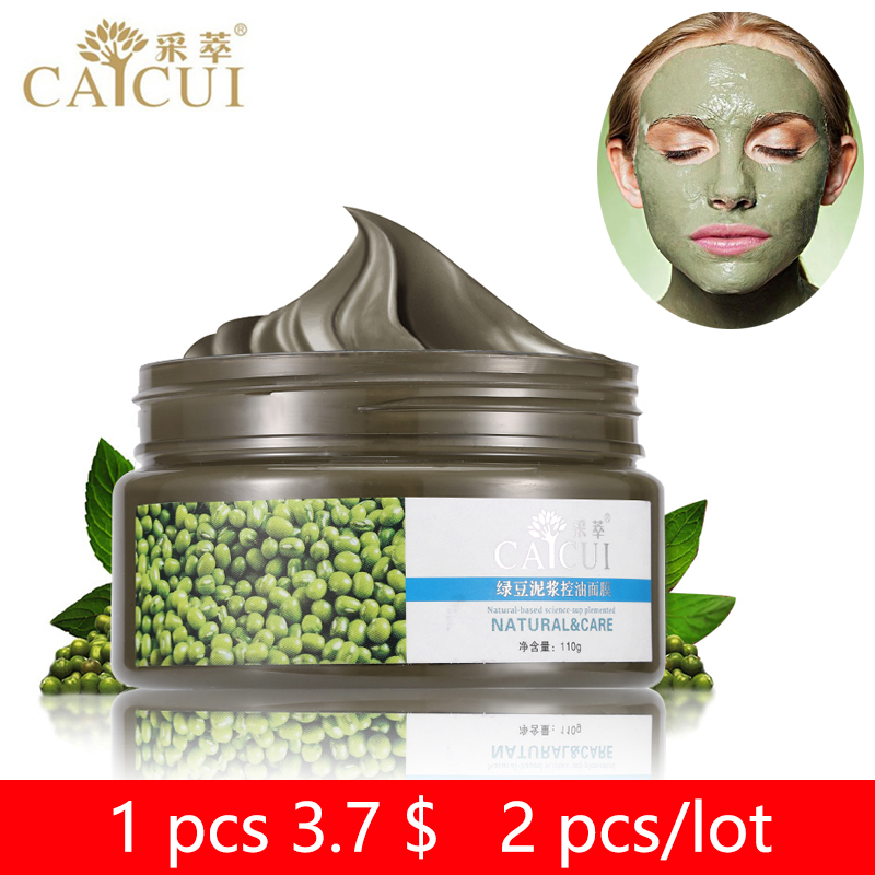2 pcs CAICUI Sand Mung Bean Mud Face Mask Acne Treatment Blackhead Remover Peeling Off Facial Mask Skin Care Day Night Cream|mud face mask|mask acneblackhead remover peel off - AliExpress
