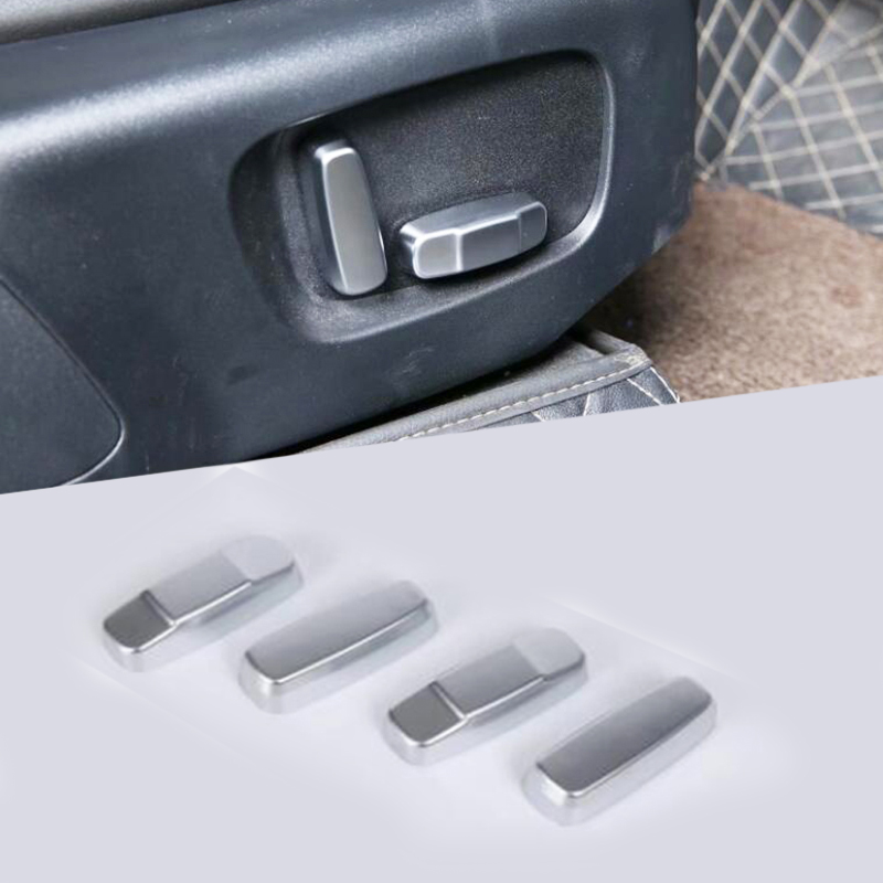ABS Chrome Car Seat Handle Button Cover Trim For Range Rover Velar 2017-2018