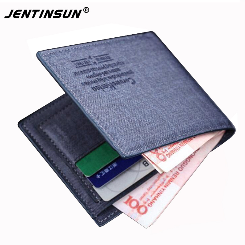 2017 New Hot Sale Polyester Men Hasp Korean Minimalist Generous Mens Wallet Slim Multi-card Bit Student Short Classic Handbag