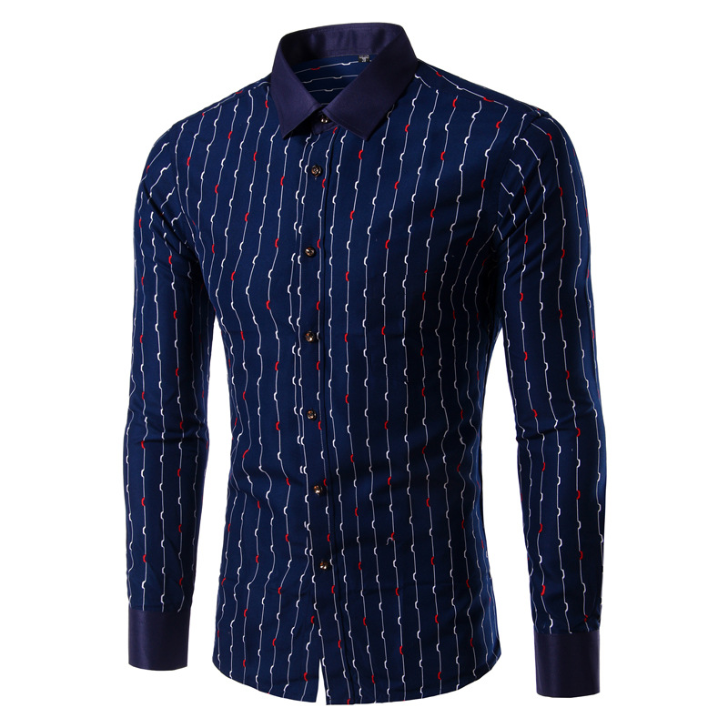 Online Buy Wholesale mens navy blue dress shirt from China mens ...