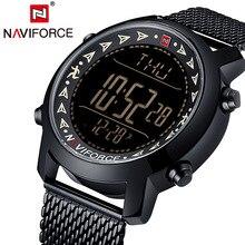 Naviforce Brand Digital Watch Men Pedometer Multifunctional