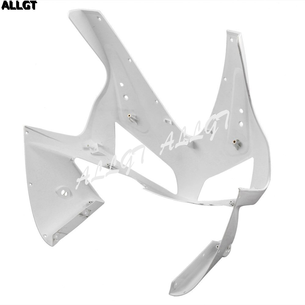 ALLGT Motorcycle Injection Moulding Unpainted Upper Front Cowl Nose Fairing for HONDA CBR 600RR 2003 2004 abs injection front upper fairing front cowl nose for honda cbr 600 rr 600rr 2007 2008 unpainted