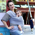 Venda quente Baby Sling Elástico Wrap Carrier Hipseat Bebê Mochila Cor Sólida Algodão Elástico