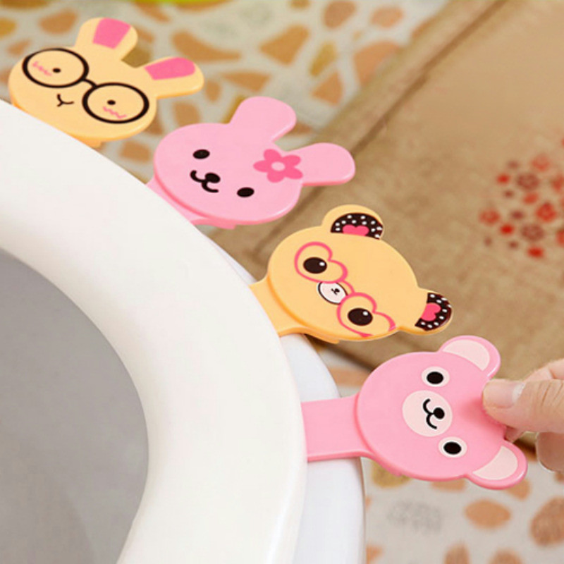 Toilet Seat Lifters Toilet cartoon cap lifter toilet handle toilet cup seat accessory flip handle