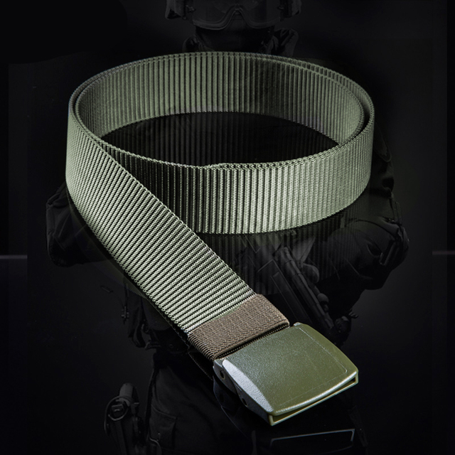 FREE SOLDIER outdoor multi-functional tactical belt breathable wear canvas belt casual special training nylon belt 4